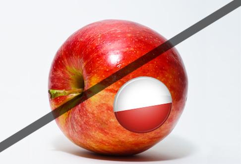 Россельхознадзор: Запрет ввоза в Россию польских яблок не является внезапным для Польши