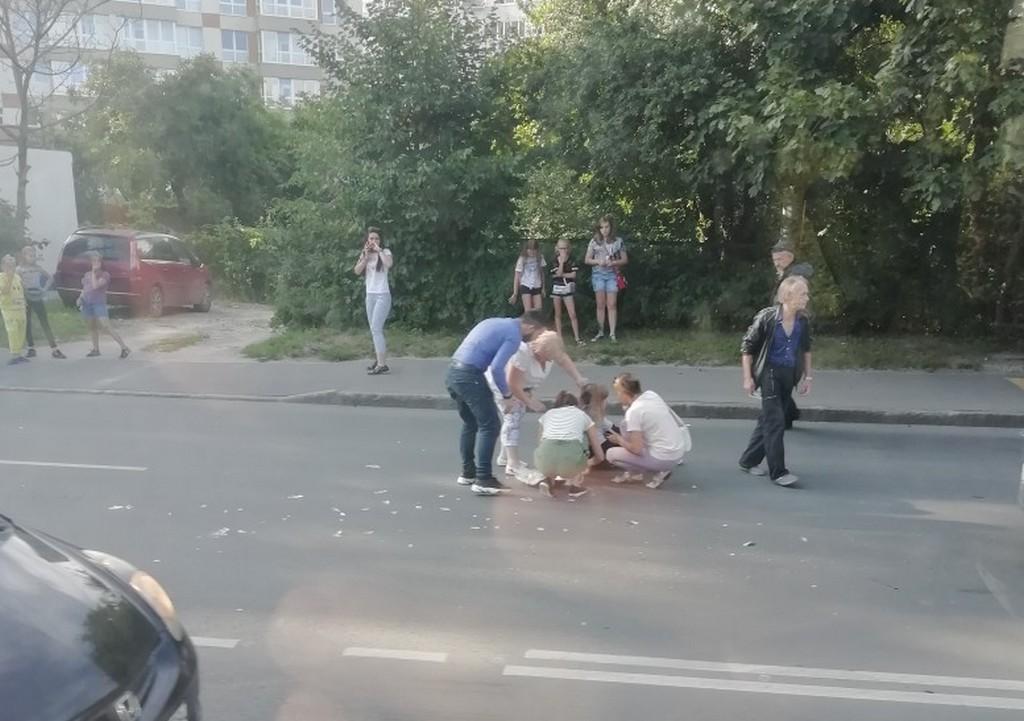 На проспекте Победы сбили человека (видео)