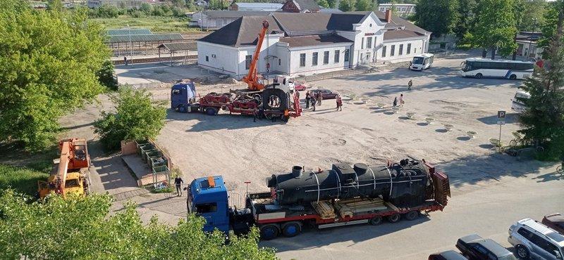 Трофейный паровоз из Калининграда перевезли в Гусев