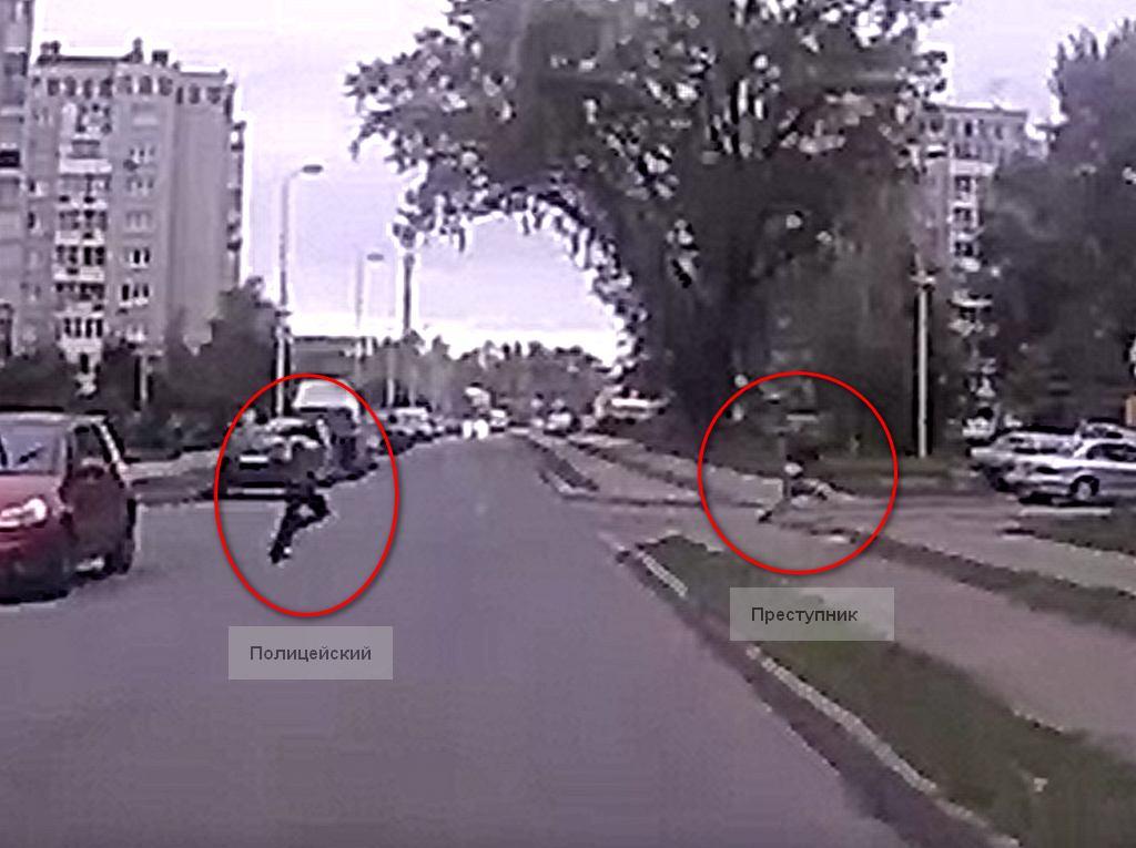 В Калининграде попала на видео погоня полиции за преступником