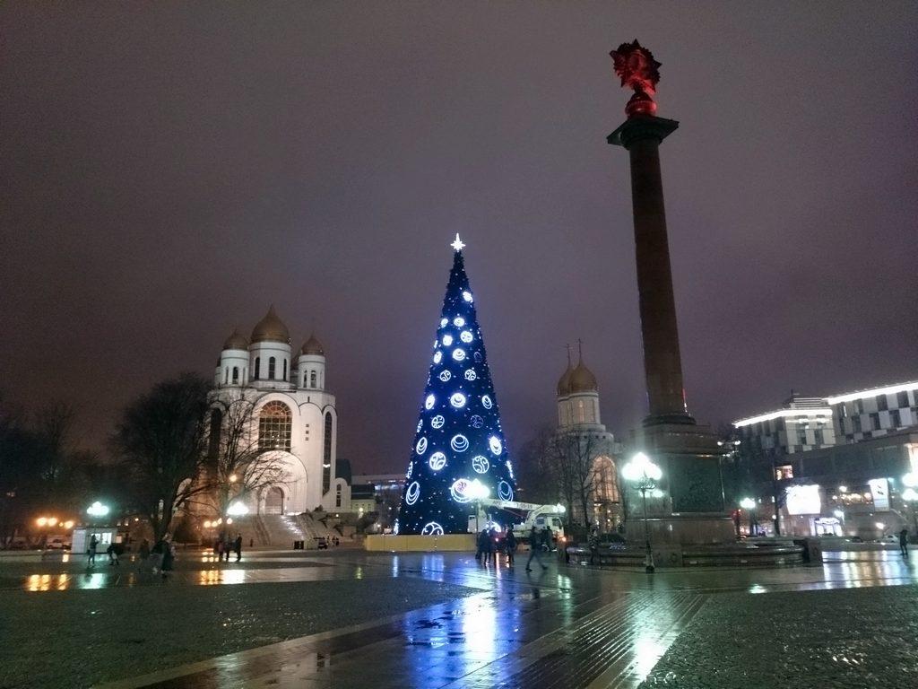В Калининграде зажгли новогоднюю ёлку (видео)