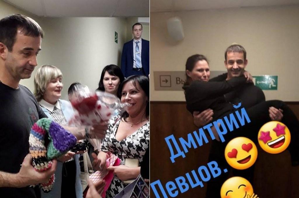 Дмитрий Певцов получил от многодетных матерей из Немана коврик