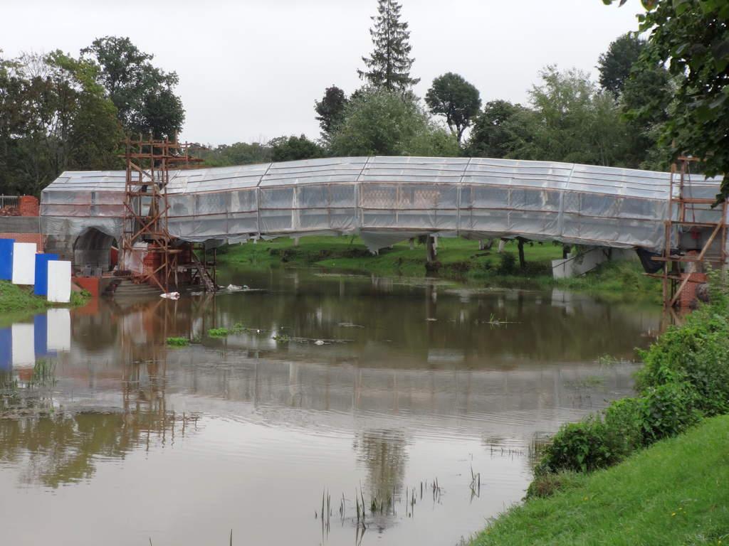 Пешеходный мост в Гусеве.